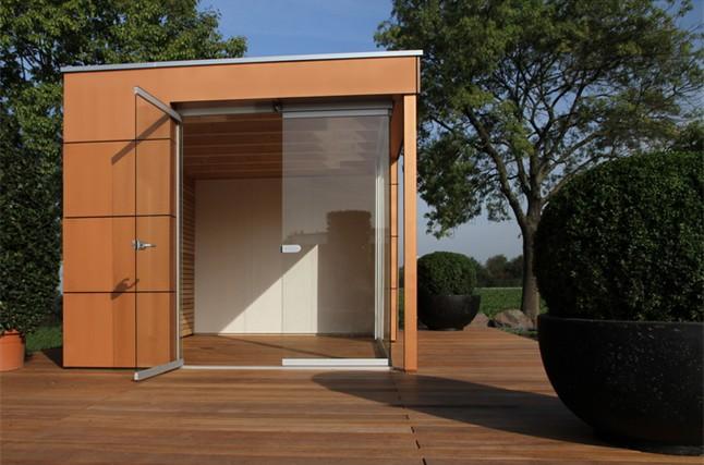 moderne ger teh user mit flachdach gartenh user flachdach. Black Bedroom Furniture Sets. Home Design Ideas